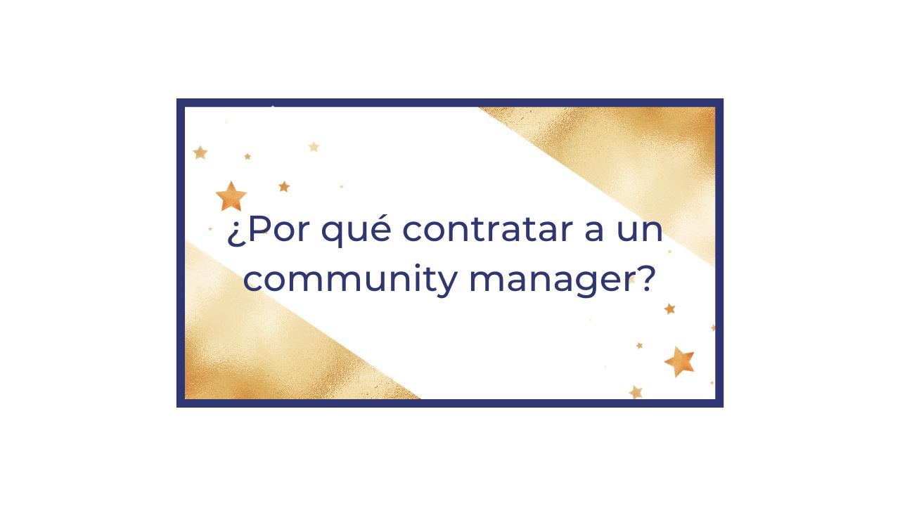 contratar a un community manager